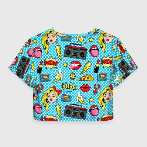 Женская футболка Crop-top 3D Девочка из комикса Фото 01