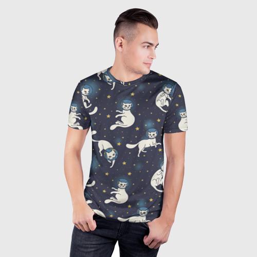 Мужская футболка 3D спортивная  Фото 03, Космокотики