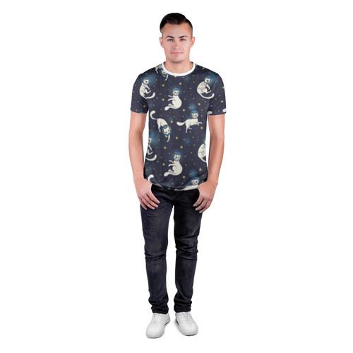 Мужская футболка 3D спортивная  Фото 04, Космокотики