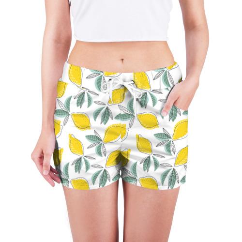 Женские шорты 3D  Фото 03, Лимончики