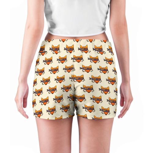 Женские шорты 3D  Фото 04, Лисы ниндзя
