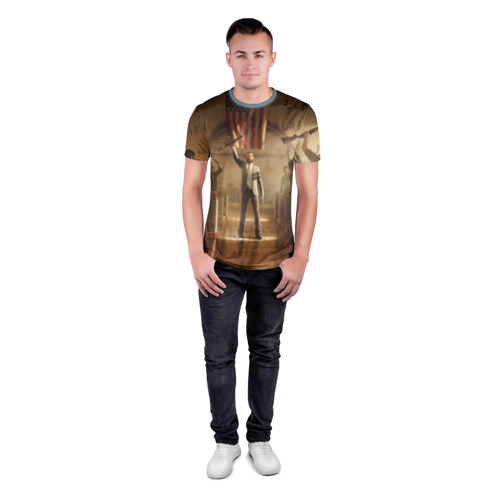Мужская футболка 3D спортивная  Фото 04, Gun