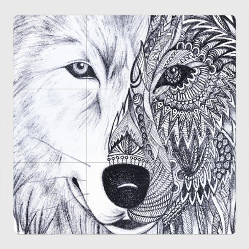 Магнитный плакат 3Х3 Рисованный волк
