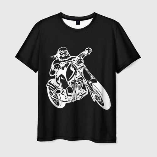 Мужская футболка 3D  Фото 01, Байкер