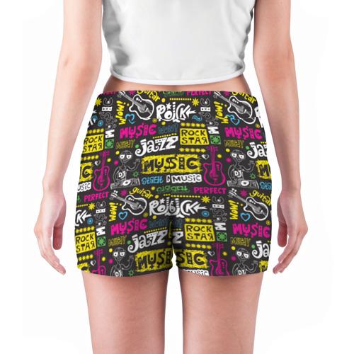 Женские шорты 3D  Фото 04, музыка