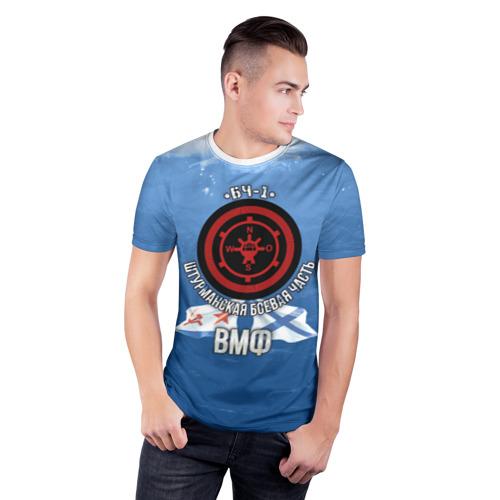 Мужская футболка 3D спортивная  Фото 03, БЧ-1 Штурманская боевая часть