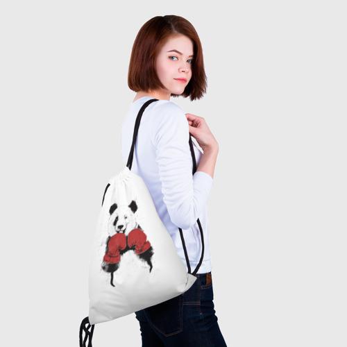 Рюкзак-мешок 3D  Фото 02, Панда боксер
