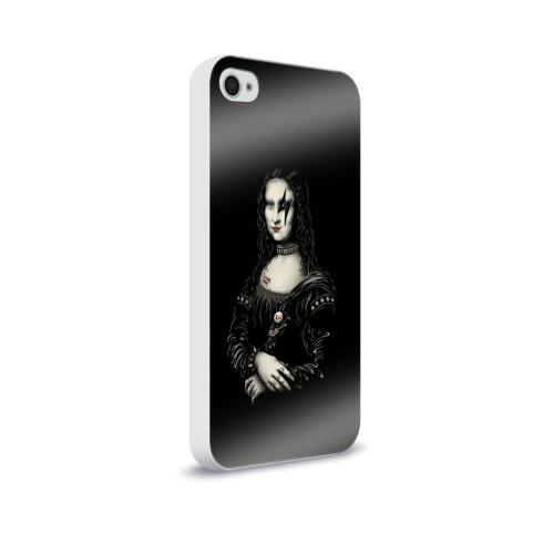 Чехол для Apple iPhone 4/4S soft-touch  Фото 02, Мона Лиза Kiss