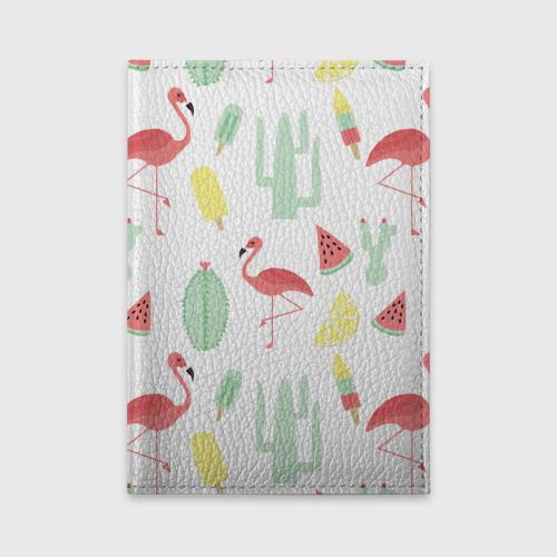 Обложка для автодокументов  Фото 01, Flamingo print