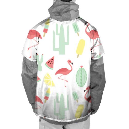 Накидка на куртку 3D  Фото 02, Flamingo print
