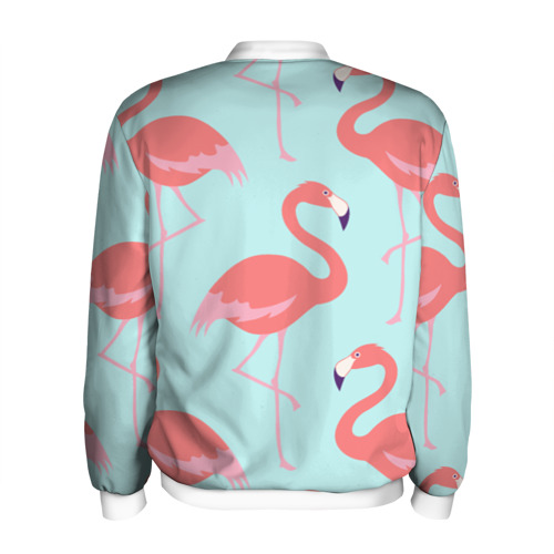 Мужской бомбер 3D  Фото 02, Flamingos pattern