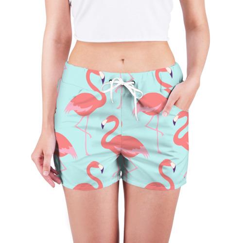 Женские шорты 3D  Фото 03, Flamingos pattern