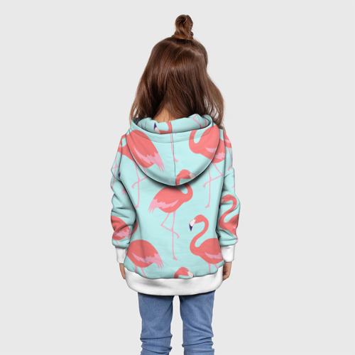 Детская толстовка 3D  Фото 02, Flamingos pattern