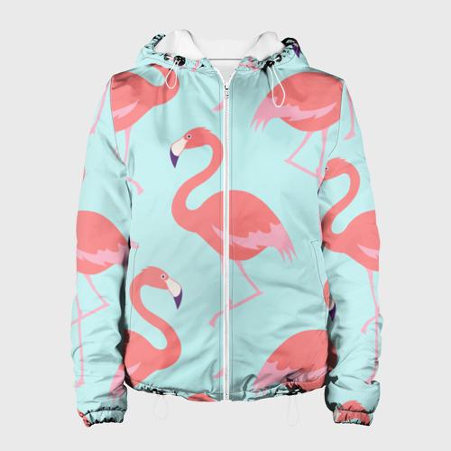 Женская куртка 3D  Фото 01, Flamingos pattern