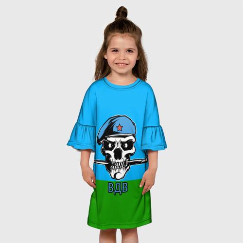 Детское платье 3D  Фото 01, ВДВ череп с ножом