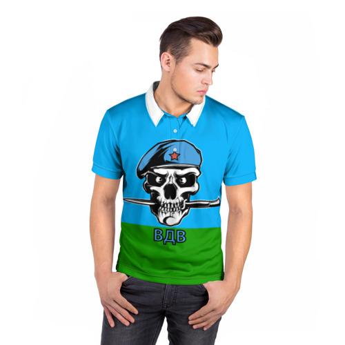 Мужская рубашка поло 3D  Фото 05, ВДВ череп с ножом