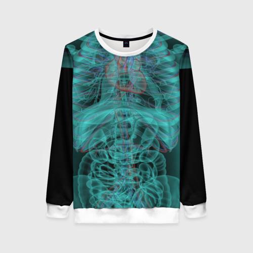 Женский свитшот 3D рентген человека Фото 01