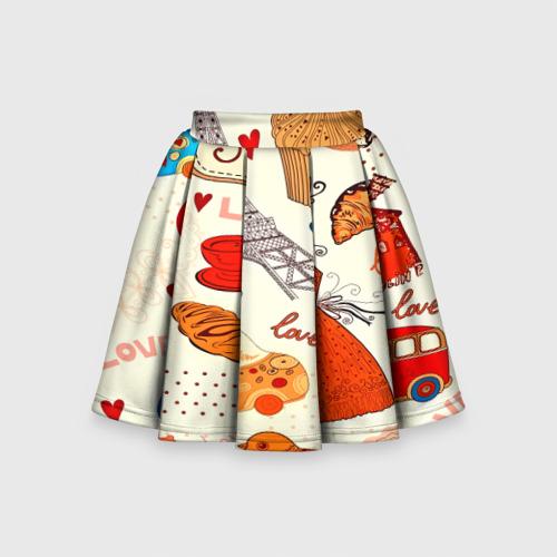 Детская юбка-солнце 3D  Фото 01, Paris pattern