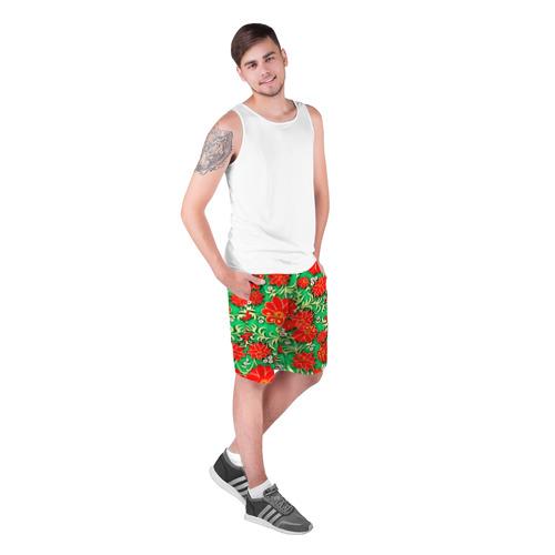 Мужские шорты 3D  Фото 03, Узор из цветов