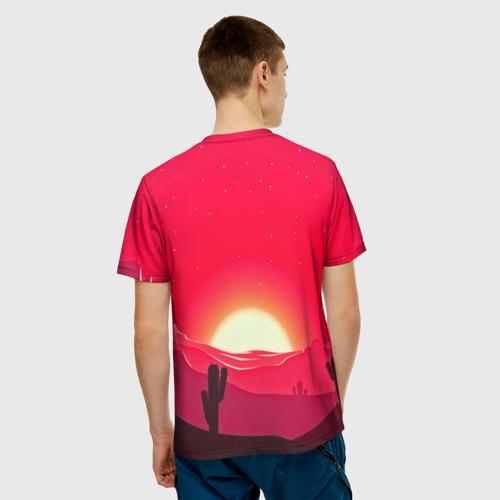 Мужская футболка 3D  Фото 02, Gorgeous sunset
