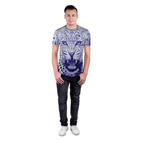 Мужская футболка 3D спортивная  Фото 04, Леопард