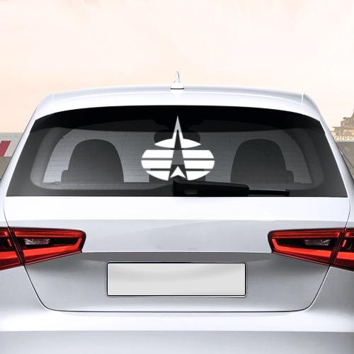 Наклейка на авто - для заднего стекла Космические войска (ВВС) РФ Фото 01