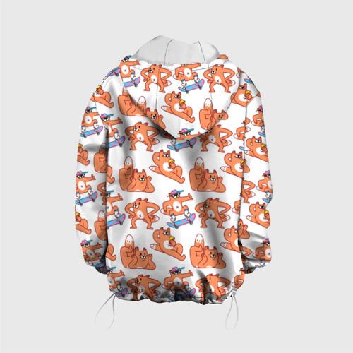 Детская куртка 3D  Фото 02, Стикеры с лисом