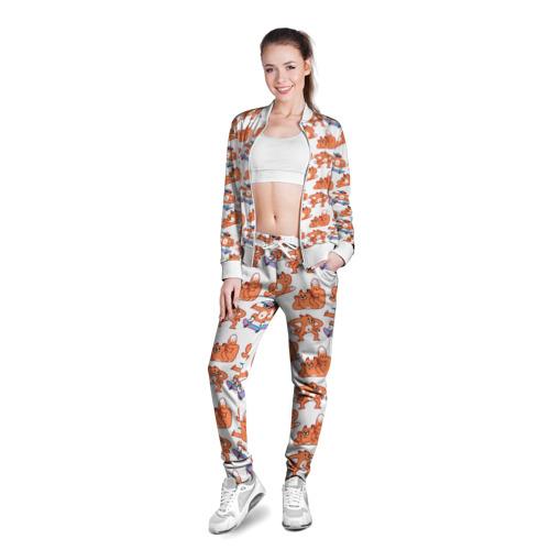 Женская олимпийка 3D  Фото 03, Стикеры с лисом