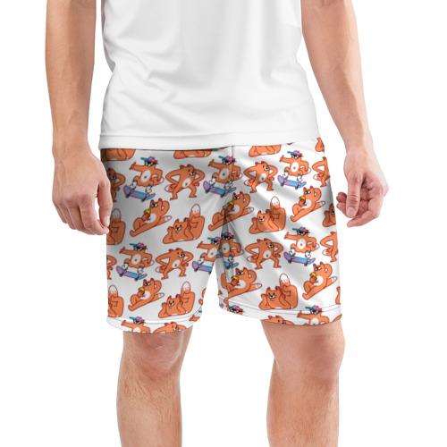 Мужские шорты 3D спортивные  Фото 03, Стикеры с лисом