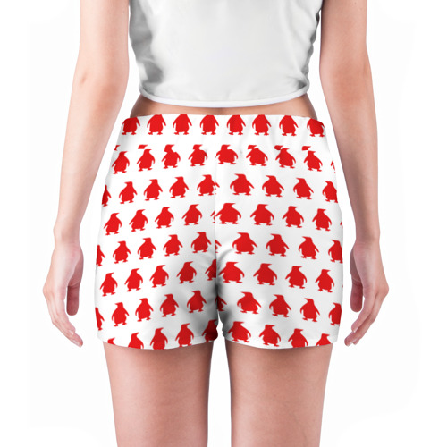 Женские шорты 3D  Фото 04, Пингвинчики