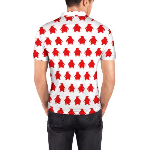 Мужская рубашка поло 3D  Фото 04, Пингвинчики