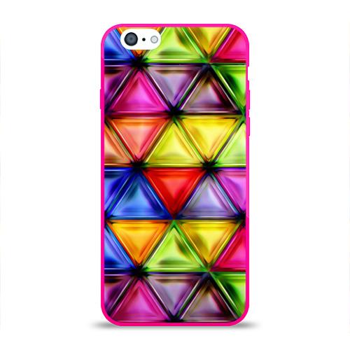 Чехол для Apple iPhone 6 силиконовый глянцевый  Фото 01, Rhombuses