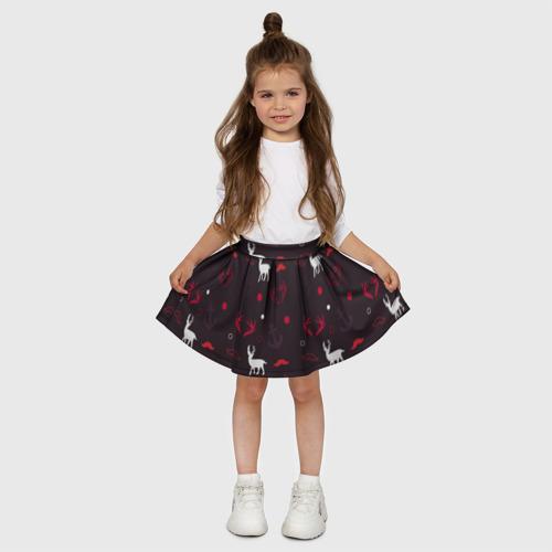 Детская юбка-солнце 3D  Фото 03, Олени