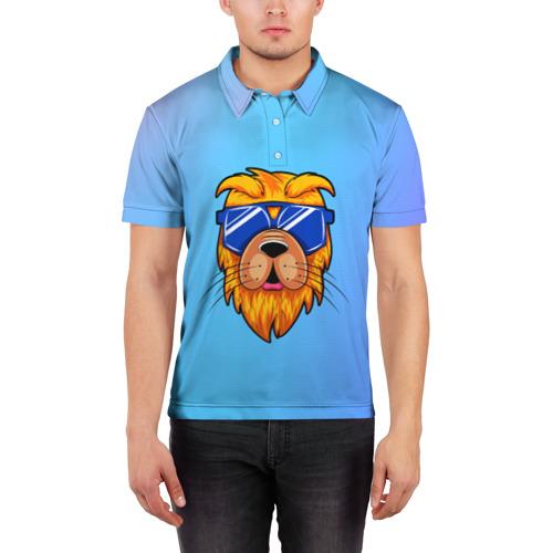 Мужская рубашка поло 3D  Фото 03, Dog hipster
