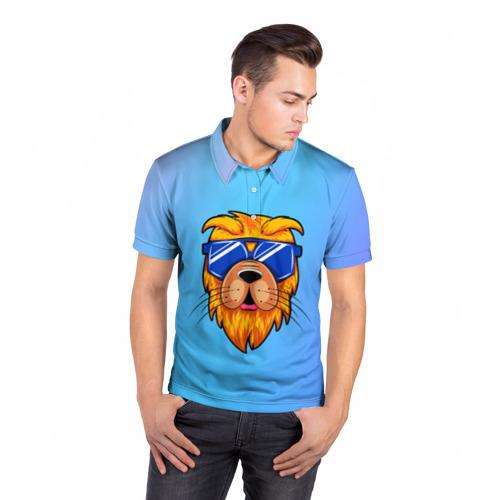 Мужская рубашка поло 3D  Фото 05, Dog hipster