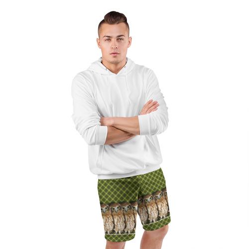 Мужские шорты 3D спортивные  Фото 05, Банда сов