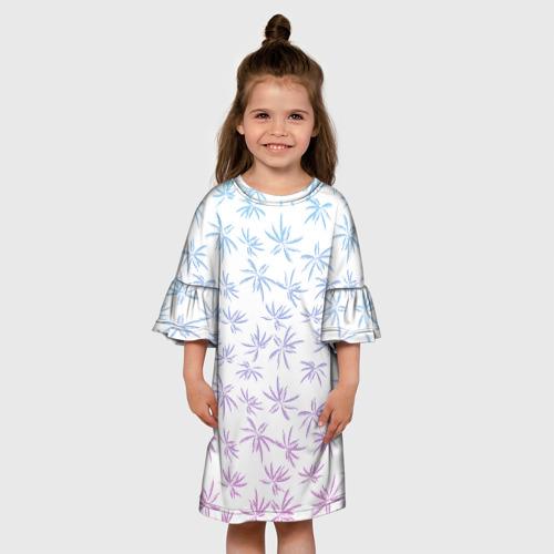 Детское платье 3D  Фото 01, Palm Rise Gradient