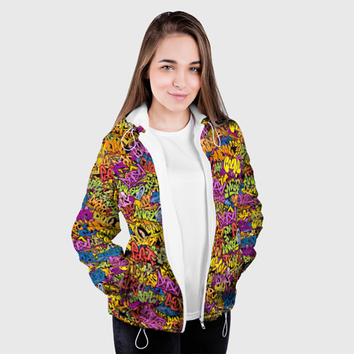 Женская куртка 3D  Фото 04, Граффити