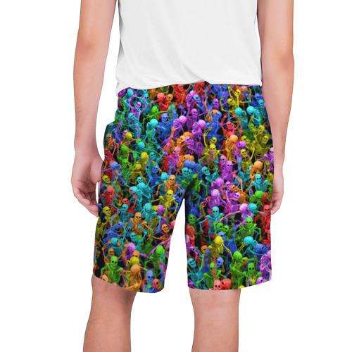 Мужские шорты 3D  Фото 02, Разноцветные скелеты