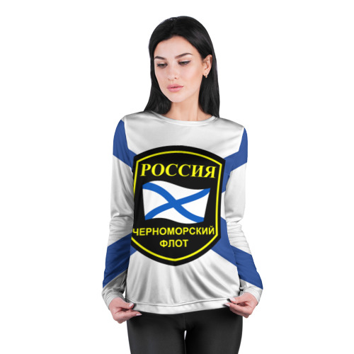 Женский лонгслив 3D для беременных  Фото 04, Черноморский флот