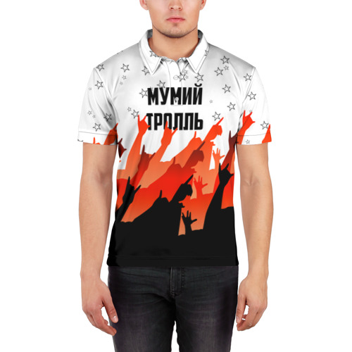 Мужская рубашка поло 3D  Фото 03, Мумий Тролль