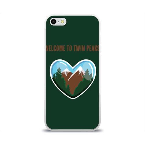 Чехол для Apple iPhone 5/5S силиконовый глянцевый Добро пожаловать в Твин Пикс Фото 01