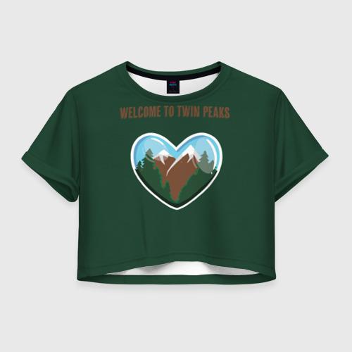 Женская футболка Cropp-top Добро пожаловать в Твин Пикс
