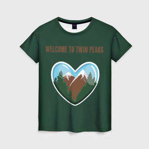 Женская футболка 3D Добро пожаловать в Твин Пикс
