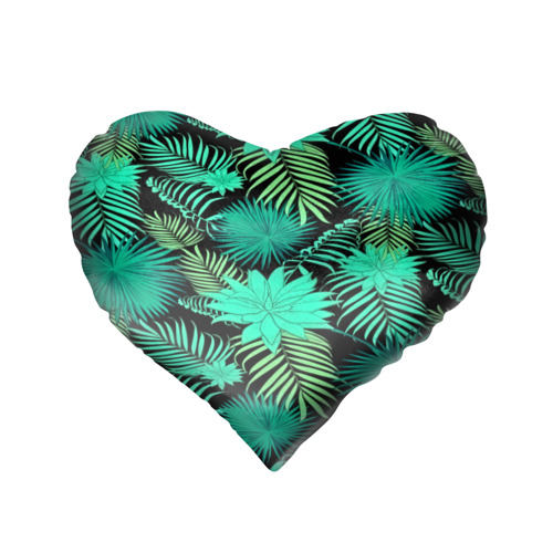 Подушка 3D сердце  Фото 02, Tropical pattern