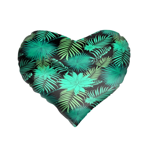 Подушка 3D сердце  Фото 01, Tropical pattern