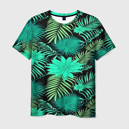 Мужская футболка 3D  Фото 03, Tropical pattern