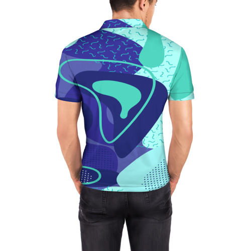 Мужская рубашка поло 3D  Фото 04, Sky pattern