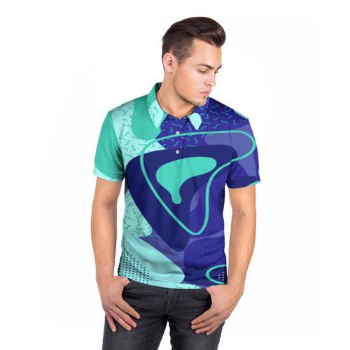 Мужская рубашка поло 3D  Фото 05, Sky pattern