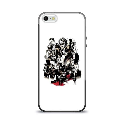 Чехол для Apple iPhone 5/5S силиконовый глянцевый  Фото 01, Бешеные псы